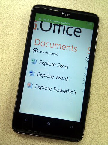 Office Hub on Windows Phone 7